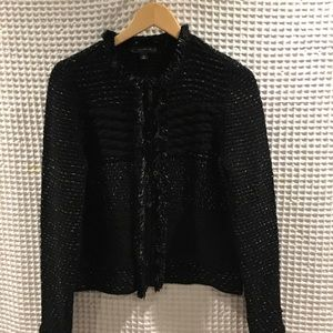 Ann Taylor sweater jacket with fringe